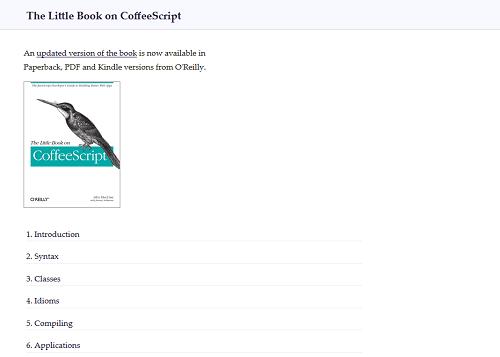 CoffeeScript Fachliteratur