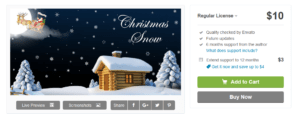 Abbildung_Christmas Snow - Snow Fall WordPress Plugin - WordPress