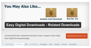 Abbildung_Easy Digital Downloads - Related Downloads