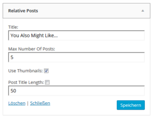 Abbildung_Relative Posts_Settings