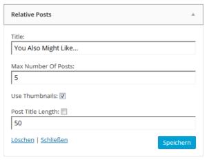 Abbildung_Relative Posts_Settings