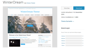 Abbildung_WordPress-Theme_WinterDream