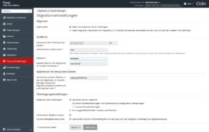 Abbildung_Migration- und Transfer-Manager - Einstellungen
