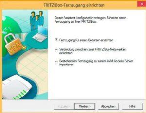 Abbildung - Fernzugang für einen Benutzer konfigurieren