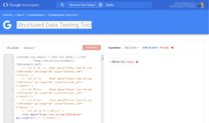 Abbildung - Structured Data Testing Tool