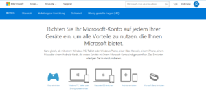 Abbildung - Microsoft-Konto auf Endgeräten
