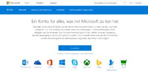 Abbildung - Microsoft Konto - eröffnen