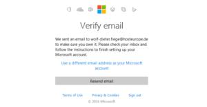 Abbildung - Verify email