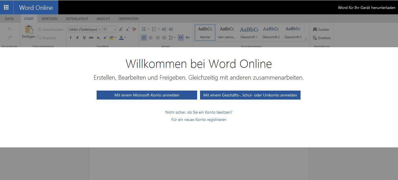 Word gratis nutzen – die online Version mit allen Basisfunktionen
