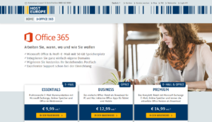 Abbildung - Office 365 - Host Europe
