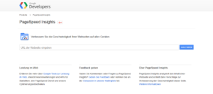 Abbildung - PageSpeed Insights