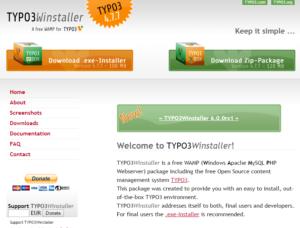 Abbildung - typo3-Winstaller-website