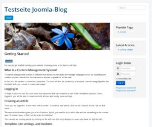 Abbildung 11 - Joomla-Webseite mit englischen Beispielinhalten
