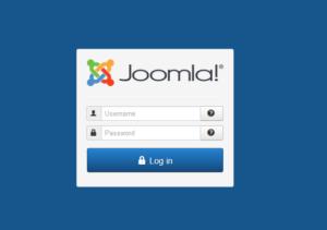 Abbildung 12 - Login Joomla-Backend.