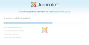 Abbildung 8 - Installation von Joomla