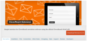 Abbildung - CleverReach Extension — WordPress Plugin