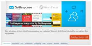 Abbildung - GetResponse Integration by GetResponse — WordPress Plugins