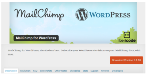 Abbildung - MailChimp for WordPress — WordPress Plugins