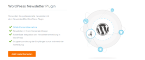 Abbildung - WordPress Newsletter Plugin von Newsletter2Go