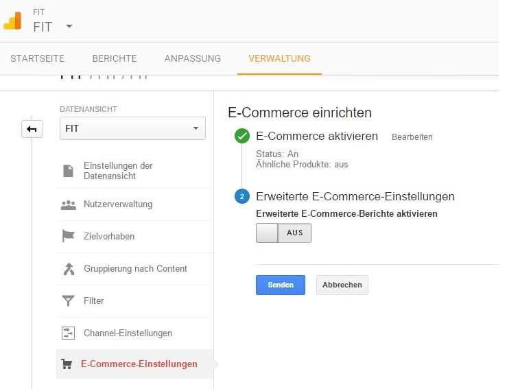 E-Commerce-Tracking mit dem Google Tag Manager