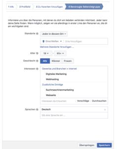 Abbildung 5 - Facebook-Seite für Unternehmen