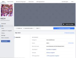 Abbildung 6 - Facebook-Seite für Unternehmen