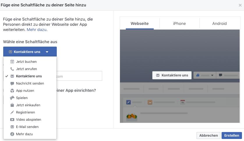 facebook seite einrichten