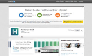 Abbildung - Linkedin - Host Europe