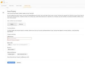 Abbildung - Neue Property in Google Analytics einrichten