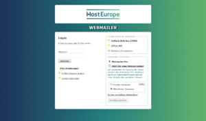 Abbildung - Webmailer Login - öffentlicher Computer