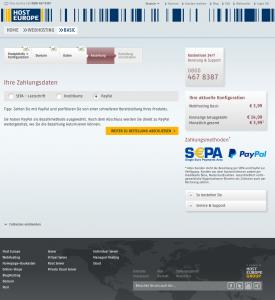 Neubestellung mit PayPal im Bestellprozess