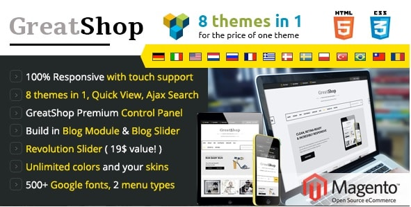 Magento Template | Die 5 Besten Responsive Templates Fur Magento Host Europe Blog
