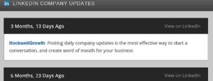 Abbildung - LinkedIn Company Updates