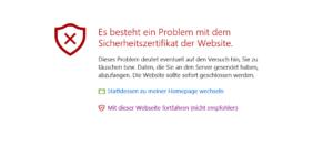 Abbildung - Sicherheitswarnung - Microsoft Edge