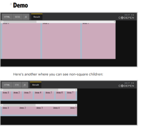 Abbildung - Horizontales Scrollen mit CSS