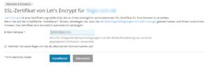 Abbildung - Lets Encrypt Zertifikat erstellen