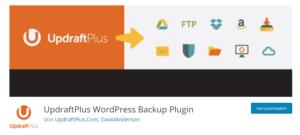 Abbildung - UpdraftPlus WP-Backup-Plug-In