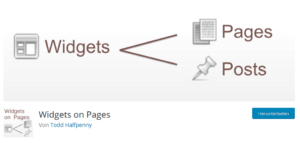 Abbildung - WordPress Plug-In Widgets on Pages