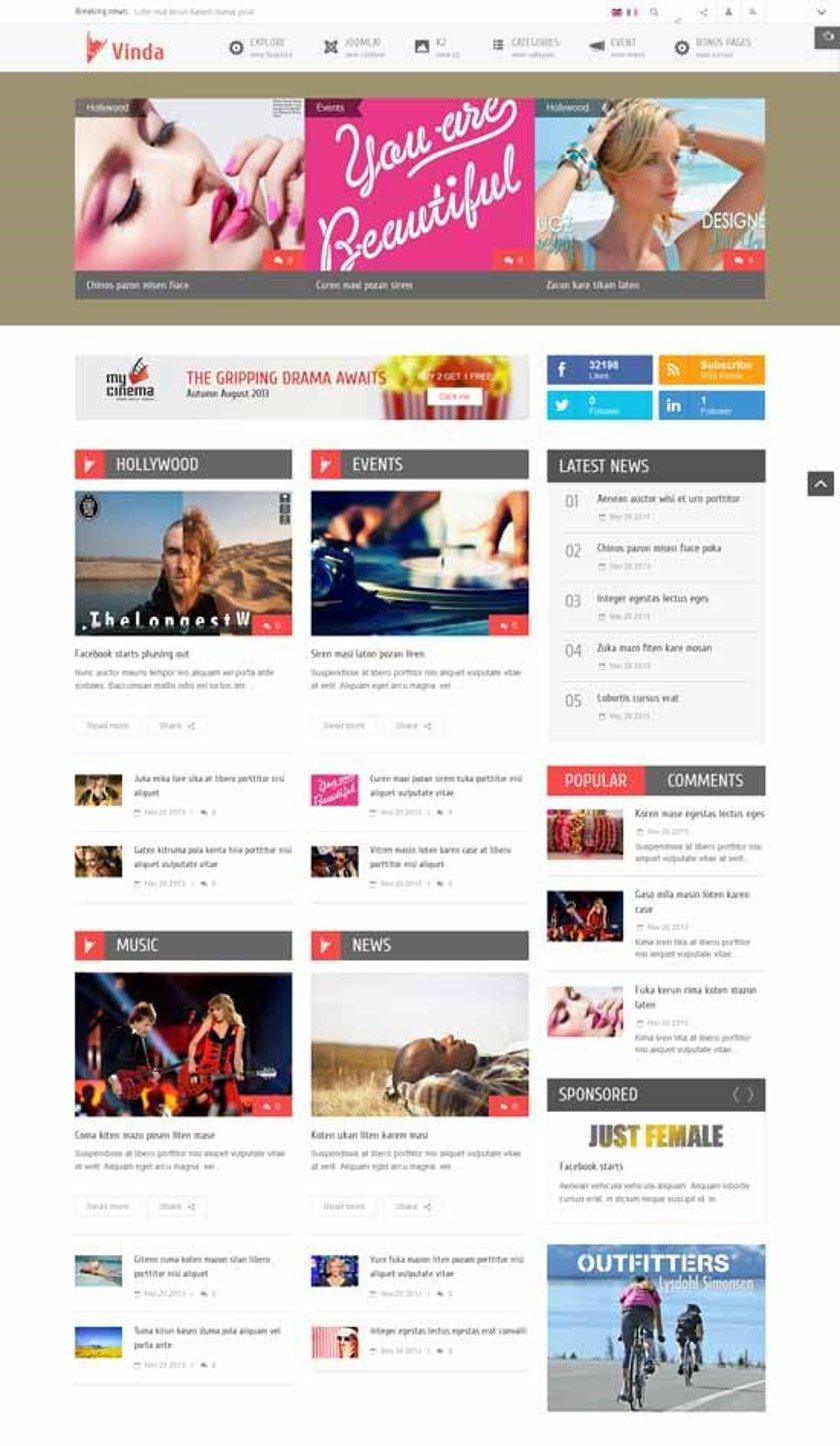 Die neun besten kostenlosen Joomla Responsive Themes