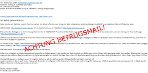 Beispiel - Phishing-E-Mail