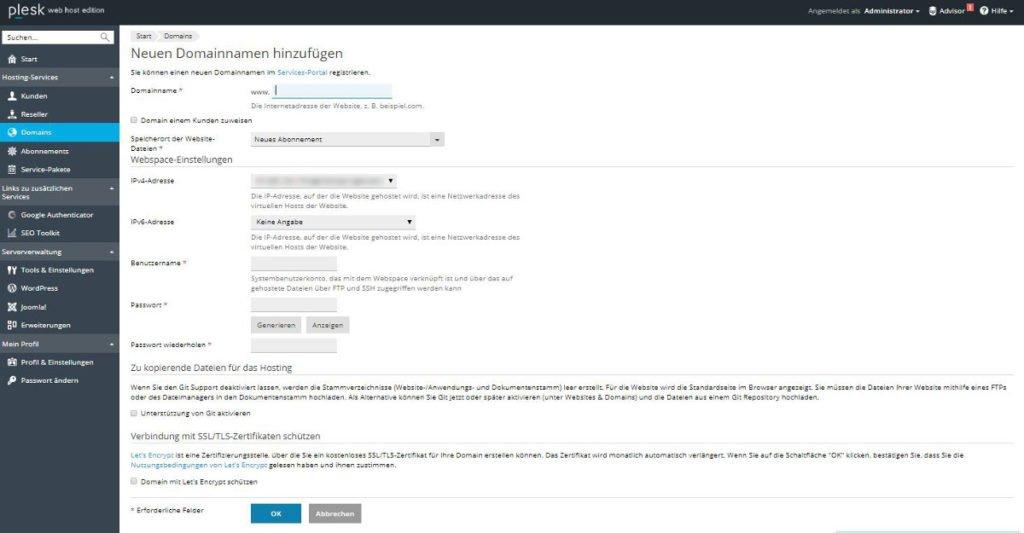 Abbildung - Absicherung einer Subdomain mit einem Let's Encrypt Zertifikat
