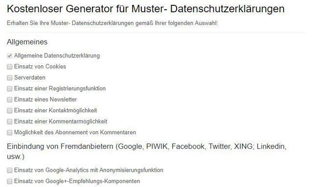die puristische alternative der kostenlose generator fr muster datenschutzerklrungen - Muster Datenschutzerklarung