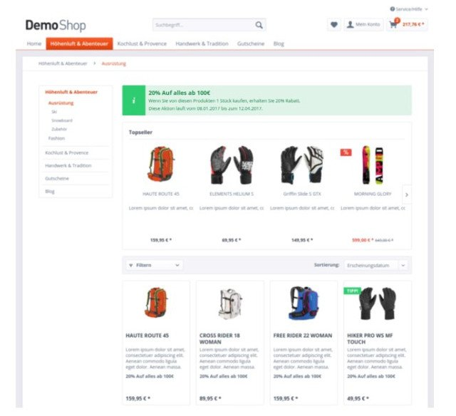 Abbildung - Shopware-Plugin - Rabatte-Produktpakete