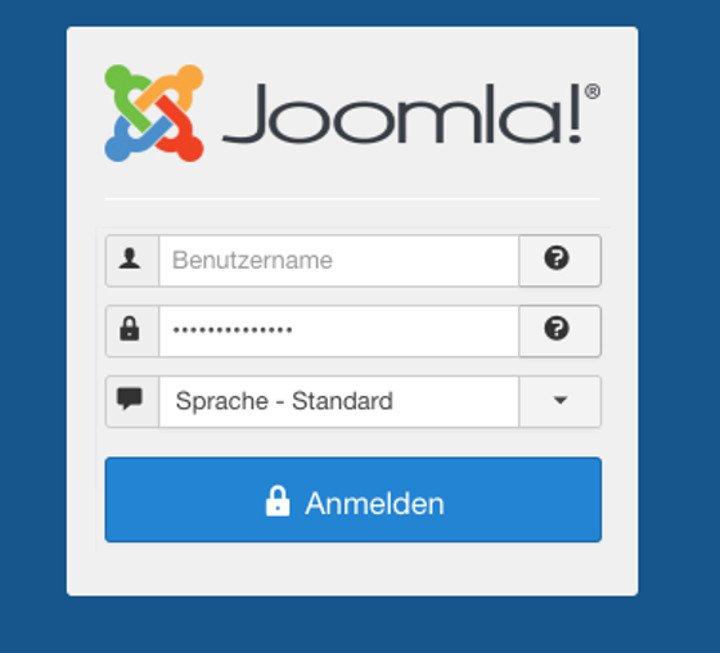 Abbildung - Login Formular zu Ihrer Joomla Website