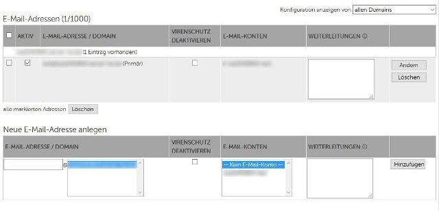 Abbildung_-_E-Mail-Adressen-verwalten - Uebersicht