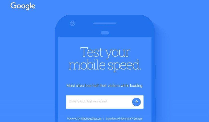 Abbildung - Test your mobile Speed Google - Speedtesting Tool mobile Website