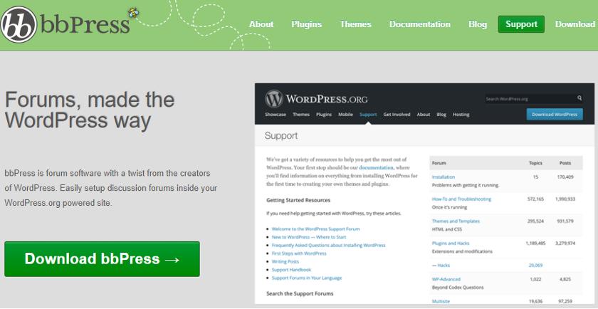 abbildung - bbpress - screenshot