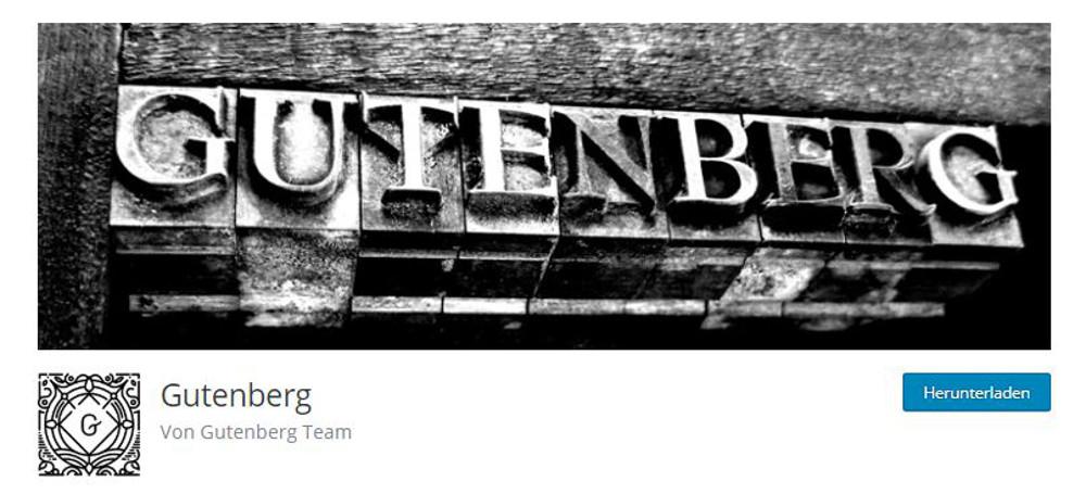 Abbildung - Der WordPress Gutenberg Editor als Plugin