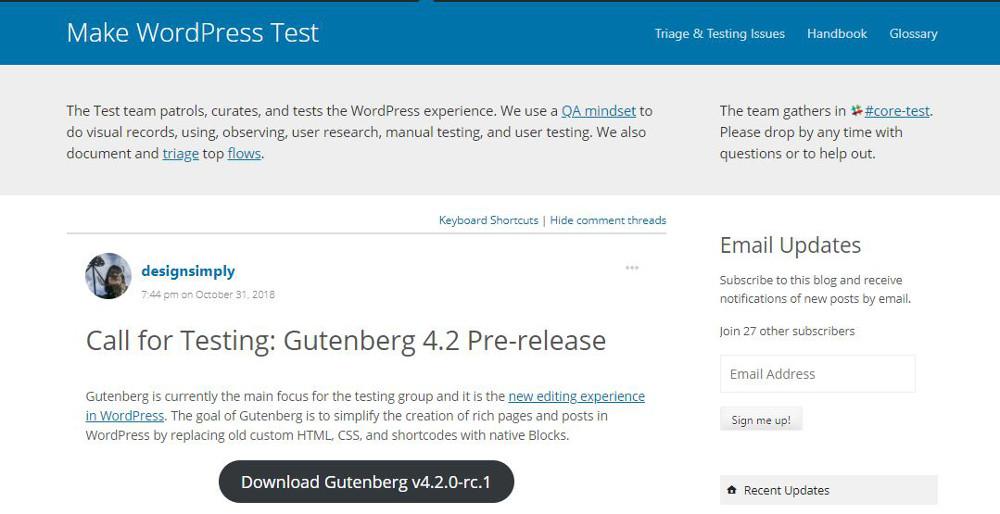 Abbildung - Zum Download von WordPress 5 als Pre-Release