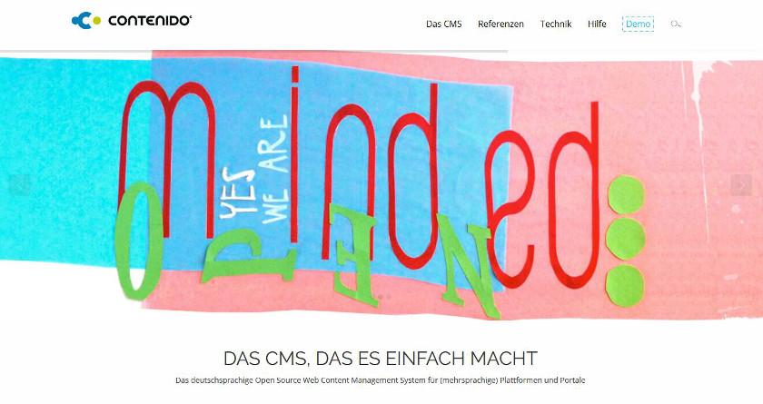 Abbildung Startseite - Das-Content-Management-System-Contenido